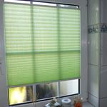 grünes Badezimmer Plissee